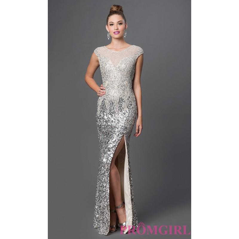 Wedding - Long Sequin Covered Primavera Prom Dress - Discount Evening Dresses