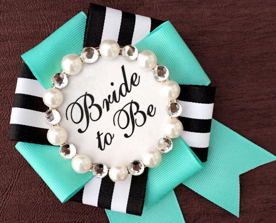 Свадьба - bride to be badge - tiffany prep