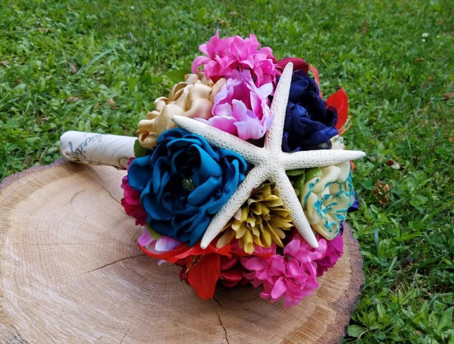 Mariage - Disney's The Little Mermaid / Ariel Inspired Handmade Alternative Wedding Bouquet