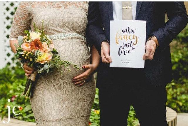Mariage - Nothin' Fancy Just Love - Wedding Sign