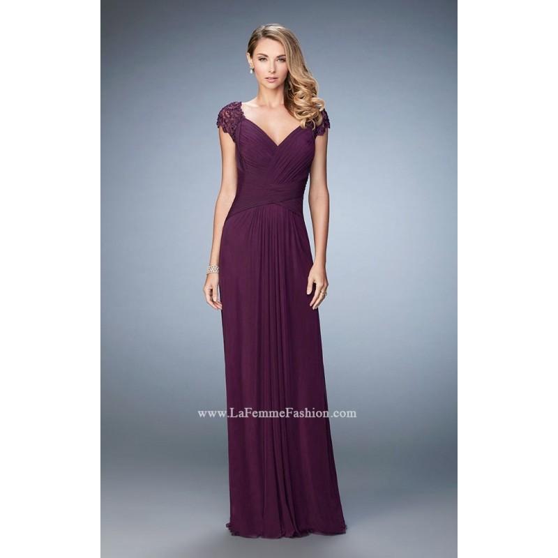 Wedding - Eggplant La Femme 23084 - Customize Your Prom Dress