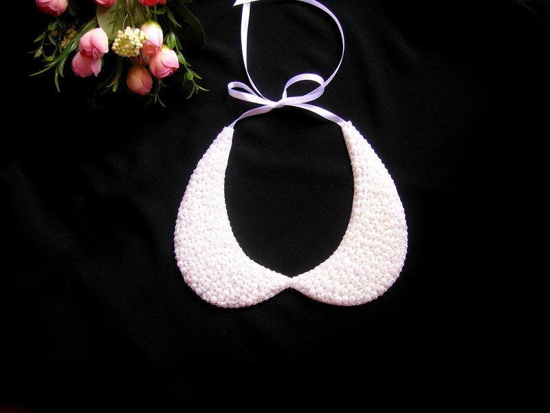 Wedding - Peter pan collar necklace, wedding pearl necklace, bridal pearl jewelry, bridal necklace, pearl necklace , bridesmaid necklace, Nuray