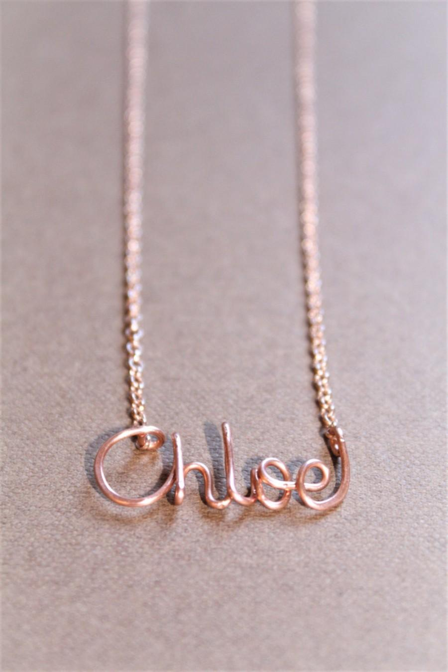 chloe gift new rose name pendant charm dainty mom necklace gold baby tiny media girl personalized bridesmaid