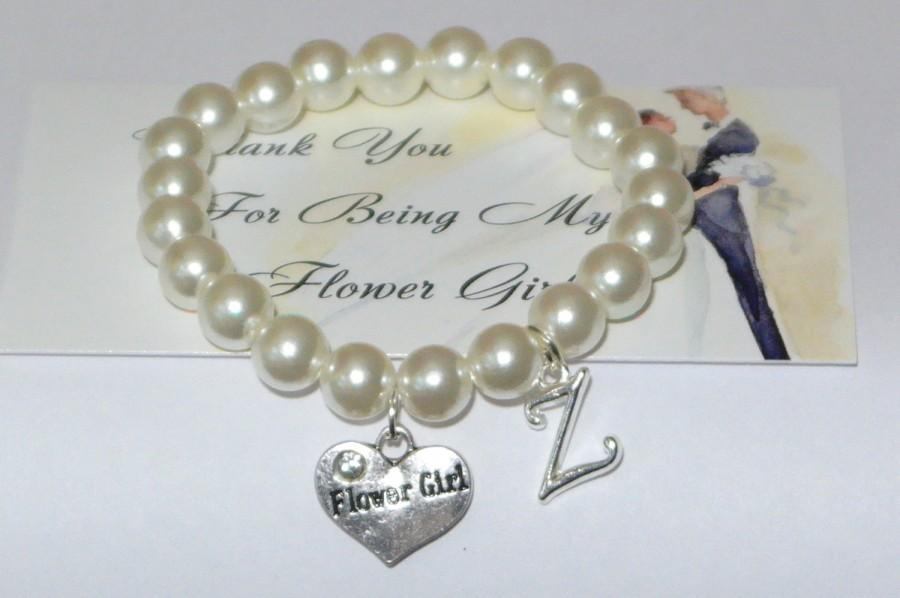 Hochzeit - will you be my flower girl - wedding party gift - flower girl bracelet - flower girl invite - asking flower girl - handmade bracelet