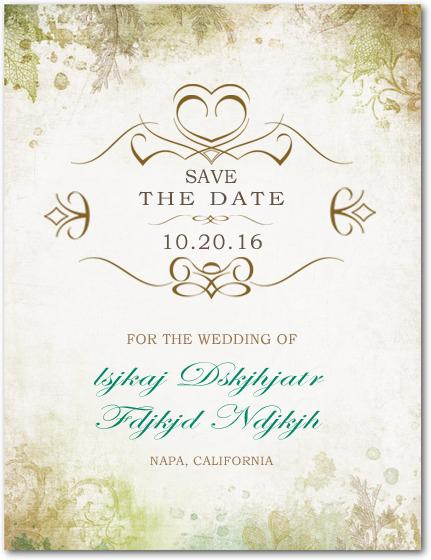 Wedding - Confer Medals Save The Dates Cards HPS037