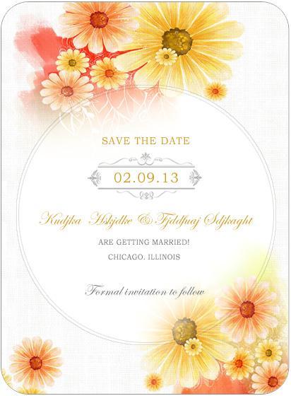 Hochzeit - Summer Sunflower Bright Wedding Save A Date Cards HPS039