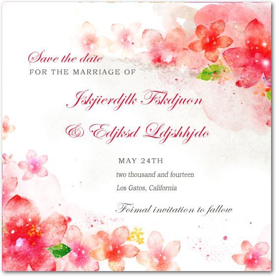 زفاف - Lively Watercolour Floral Wedding Save The Dates HPS050