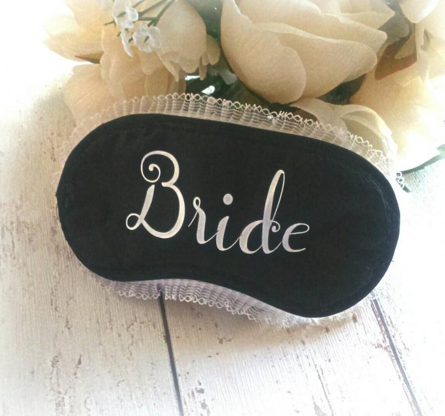 Hochzeit - Bride gift,  bride to be gift, eye mask, sleeping mask, hen party, party favours, wedding parting, bridesmaid, mother of the bride
