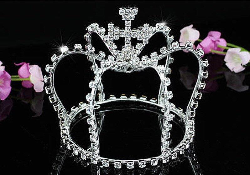 Wedding - Crowns, Silver Crowns, Cake Topper Crown, Crown With Cross, Rhinestone Crown, Princess Crown, Photo Prop, Bridal Crown, Wedding Crown