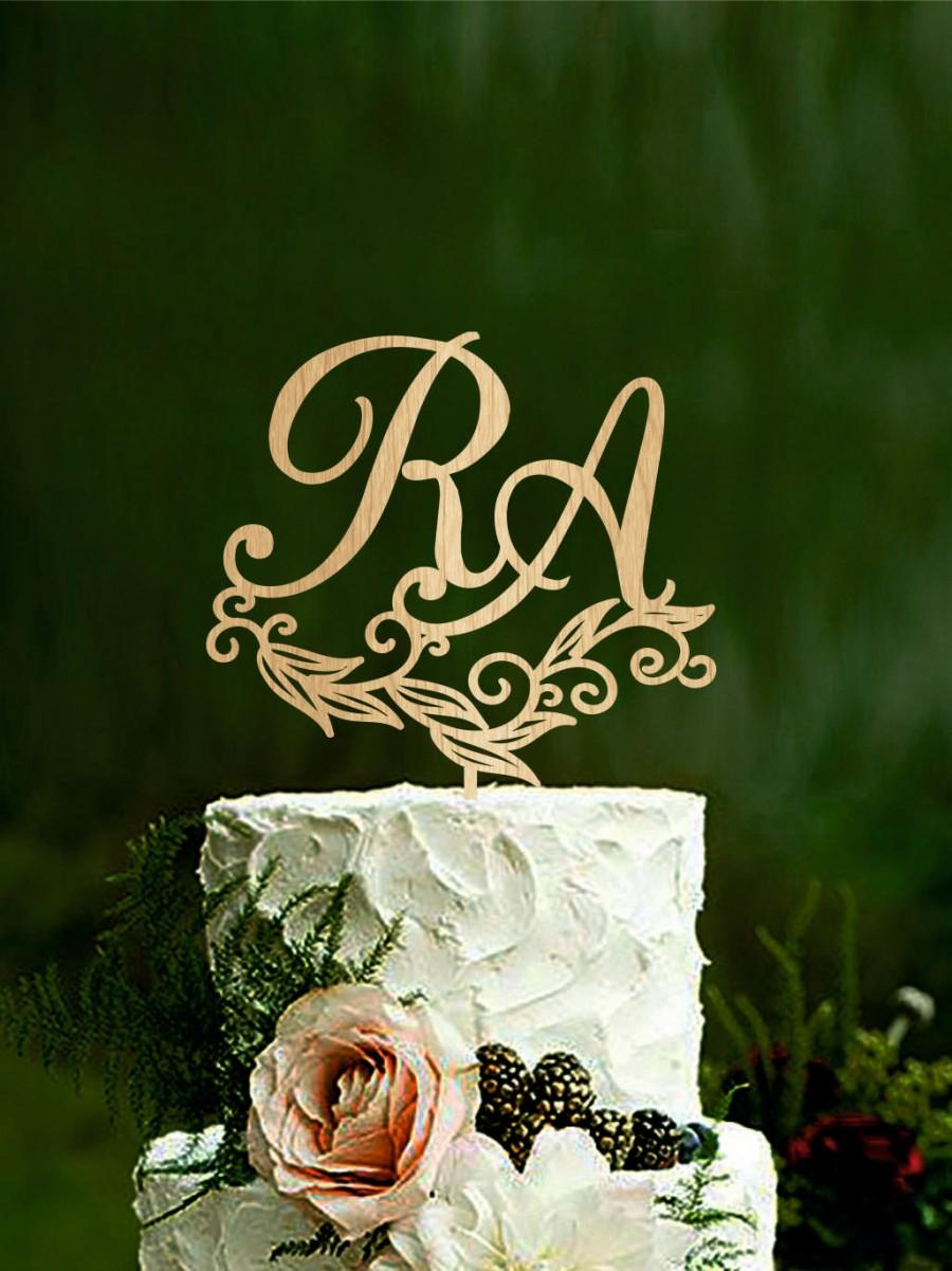 Mariage - Wedding cake topper initial cake toppers for weddings mr & mrs monogram cake topper mr and mrs custom cake topper personalised Gold Silver