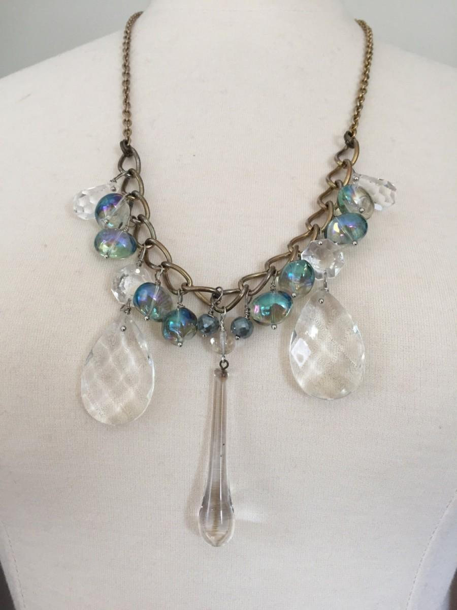 Wedding - Boho necklaces, charm necklaces,beaded necklaces, statement necklaces, crystal chandeliers, bridal necklace, original design, FREE SHIPPING