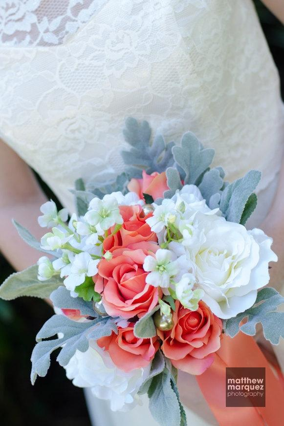 Wedding - Hydrangea Wedding Bouquet, Rustic Bridal Bouquet, Unstructured Bouquet, Garden Wedding Bouquet, Silk Flower Bridal Bouquet-Ready To Ship