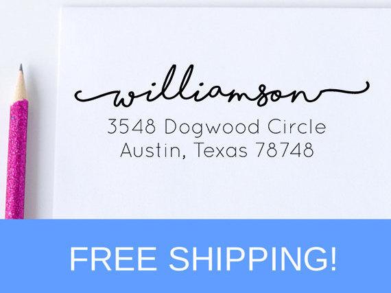 زفاف - Return Address Stamp - Self Inking Address Stamp - Personalized Address Stamp   (D197)