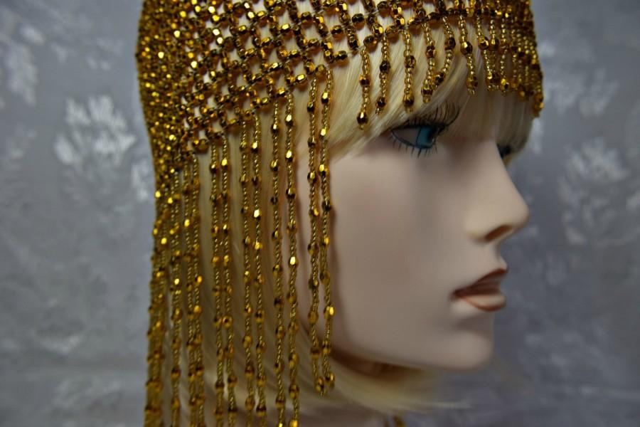 Wedding - GATSBY HEADPIECE, 1920s headpiece, flapper headpiece, art deco roaring 20s gold  headpiece, gatsby accessories, gatsby dress, flapper dress
