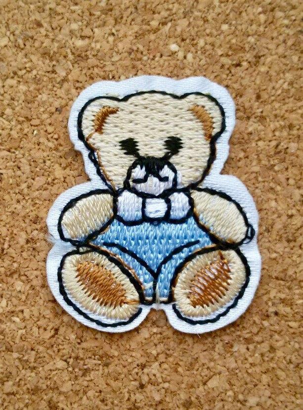 Boda - Teddy Bear Iron on Patch - Teddy Bear Patch Cool Iron on Patches Teddy Bear Applique Embroidered Patch Teddy Bear Sew On Patch, Best Gift