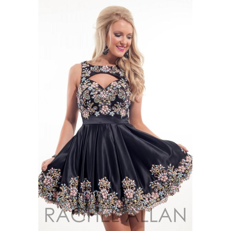 Hochzeit - Black Rachel Allan Homecoming 4100  Rachel ALLAN Homecoming - Elegant Evening Dresses