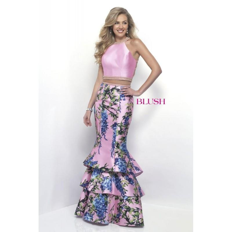 Mariage - Blush by Alexia 11247 Candy Pink/Multi,Sky Blue/Multi Dress - The Unique Prom Store