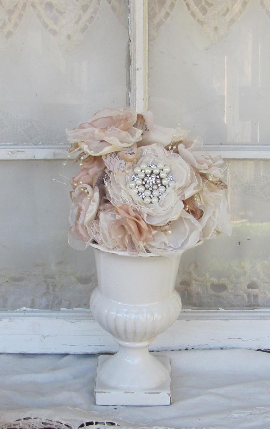 Mariage - Wedding Cake Topper, Champagne wedding, flower cake top, Rhinestones cake decor, cake decor,floral cake topper, wedding cake flowers,