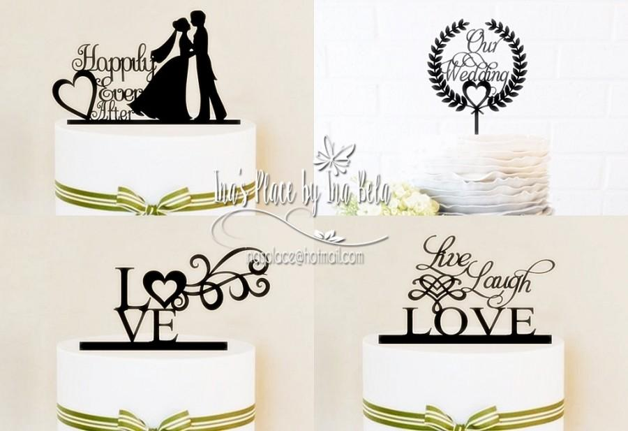 Mariage - Cake Toppers,Party Decor,Wedding Cake Topper,Silhouette Cameo Files,SVG Cut File,Silhouette Cameo File,Handmade Wedding Decor,Party Supply