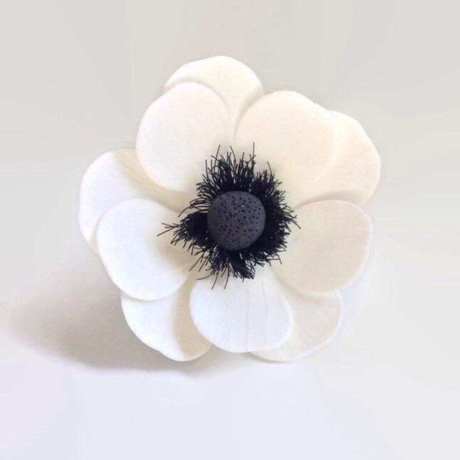Gumpaste Flowers For Wedding Cakes: Anemone Sugar Flowers For Wedding Cake Toppers, Gumpaste