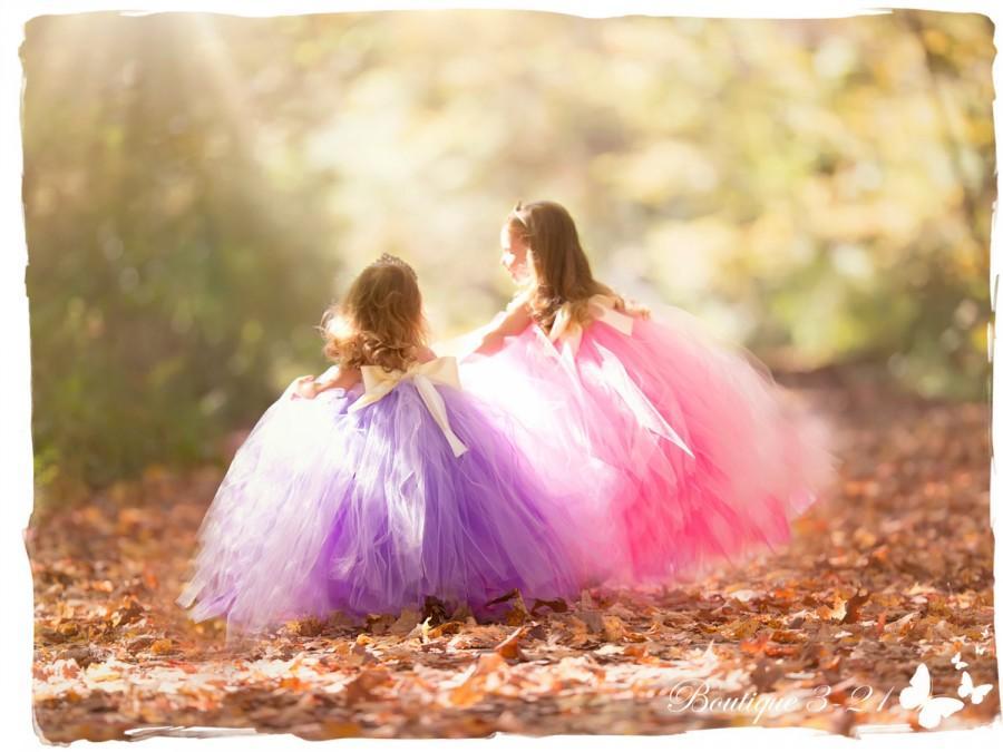 Mariage - Lavender Flower Girl Dress, Lavender tutu dress, Lavender Dress, Purple Flower Girl Dress, Purple Tutu Dress, Purple Dress, Purple Wedding