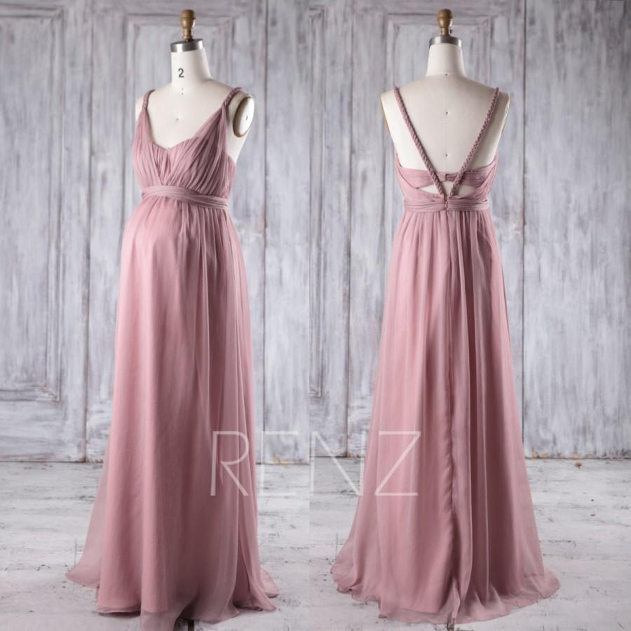 2016 dusty rose chiffon maternity bridesmaid dress empire waist 2016 dusty rose chiffon maternity bridesmaid dress empire waist sweetheart illusion wedding dress prom dress floor length hm392 ombrellifo Gallery