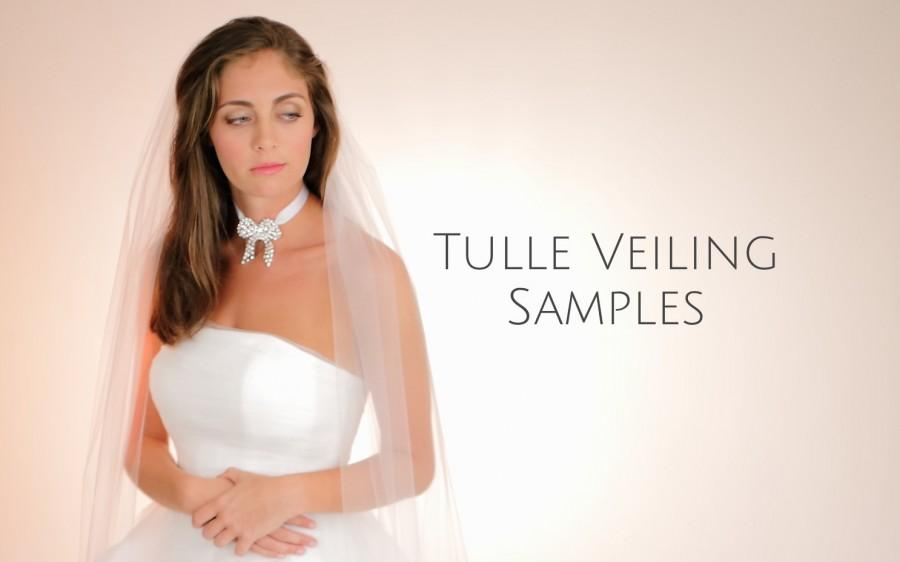 Hochzeit - TULLE VEILING SAMPLES, See Colors Available, Illusion Veiling Samples, Sample Cuts Of Tulle Fabric, Fabric Swatches, Style No. 4150