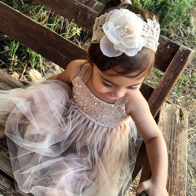 Mariage - Sparkle Magic Dusty Rose flower girl dress French lace and silk tulle dress for baby girl princess dress tutu
