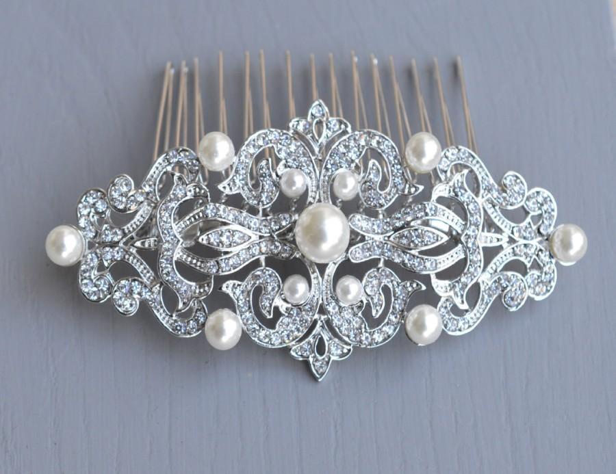 Mariage - Vintage Wedding Comb,  Vintage Hair Comb
