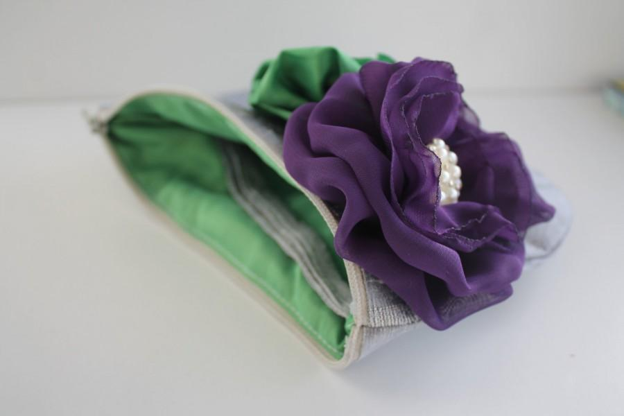 Mariage - Bridesmaid Clutch / Clutch Purse / Wristlet Clutch - Choose Your Colours - Perfect Bridal Gift