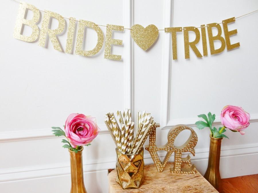 Bride tribe banner bachelorette banner bachelorette for Bachelorette party decoration