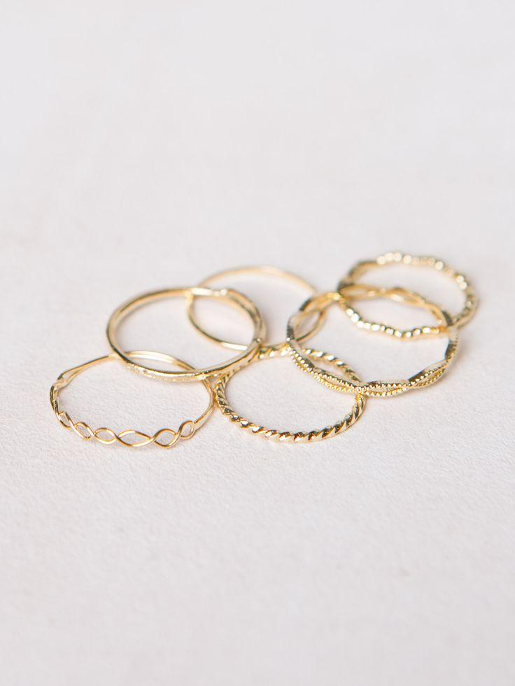 Mariage - Assorted Dainty Rings