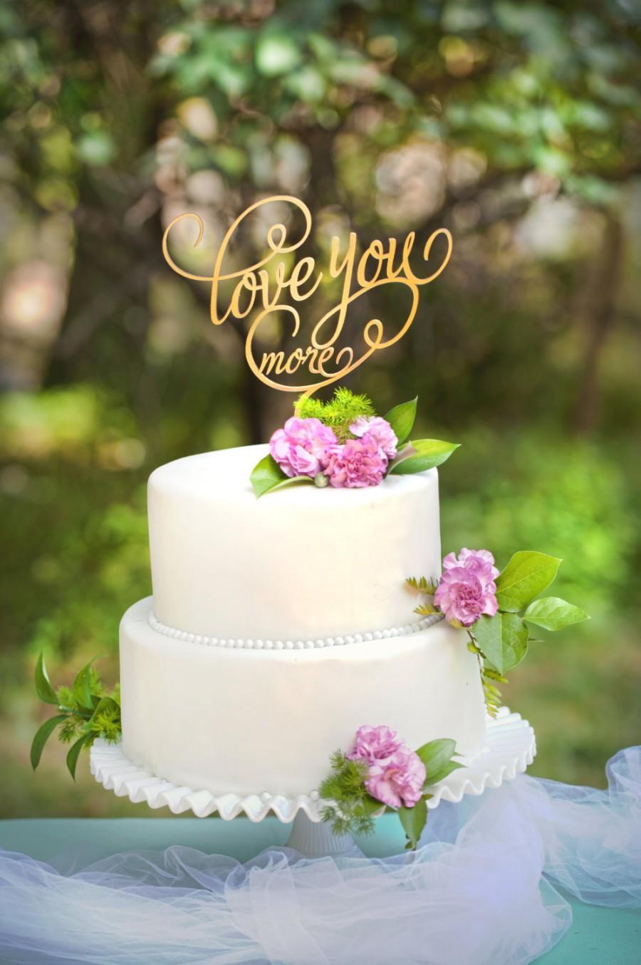 زفاف - Love You More Wedding Cake Topper
