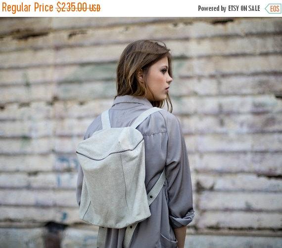 زفاف - Sale Women Leather Backpack, Zipper Travel Bag, Small Satchel, School Bag, Handmade Leather Bag