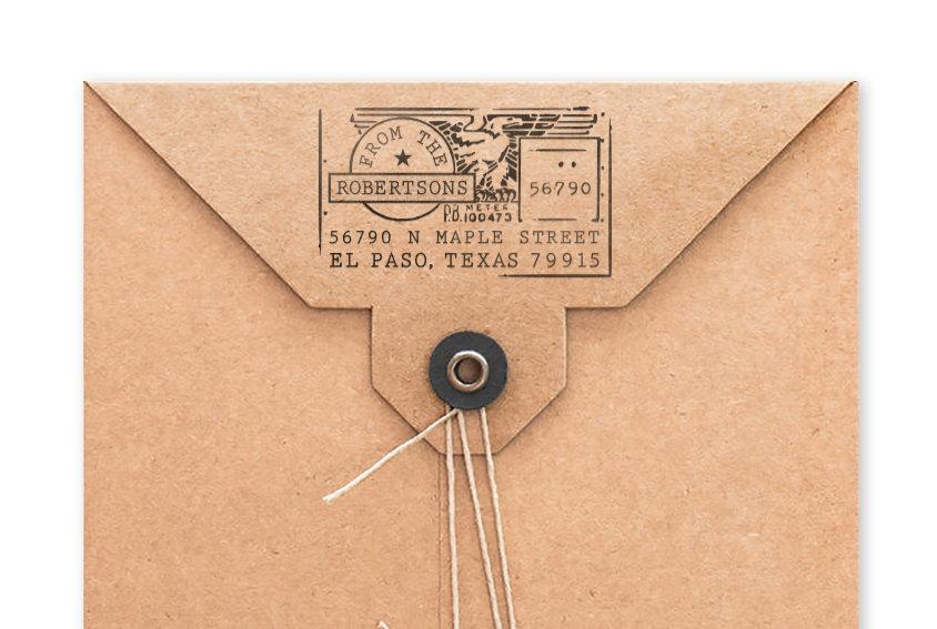 Personalized Address Stamp Custom Stamp Address Mailing Stamp