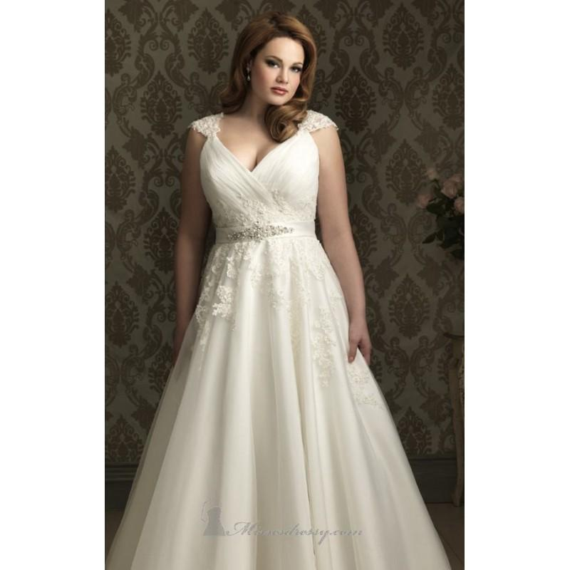 Wedding - A-line Gown with Cap Sleeves by Allure Bridals - Color Your Classy Wardrobe