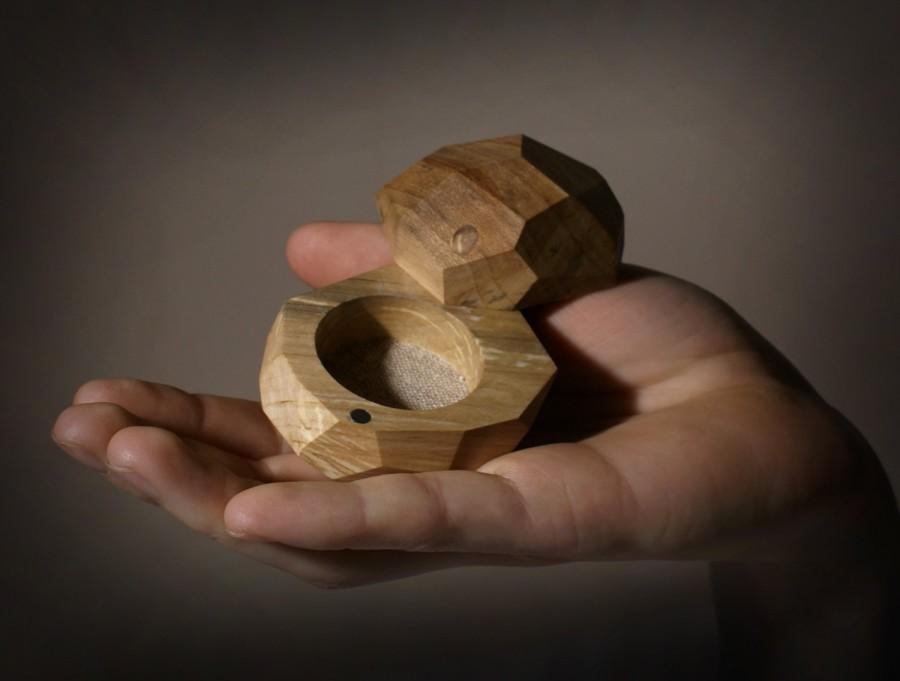 Mariage - Ring box, Wood ring box, Rustic ring box,Jewelry box, Wedding ring box, Engagement ring box, Proposal ring box, Birch ring box