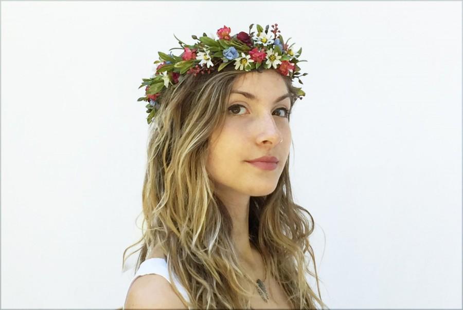 Mariage - Wildflower Crown. Bridal Headpiece, Wildflower Crown, Headpiece, Bridal Flower Crown, Bridal Headpiece, Festival Style, Woodland Wedding