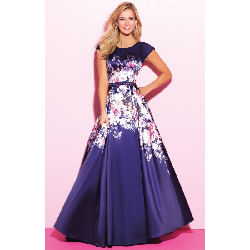 زفاف - Navy/Multi Madison James 17-322M Prom Dress 17322M - Customize Your Prom Dress
