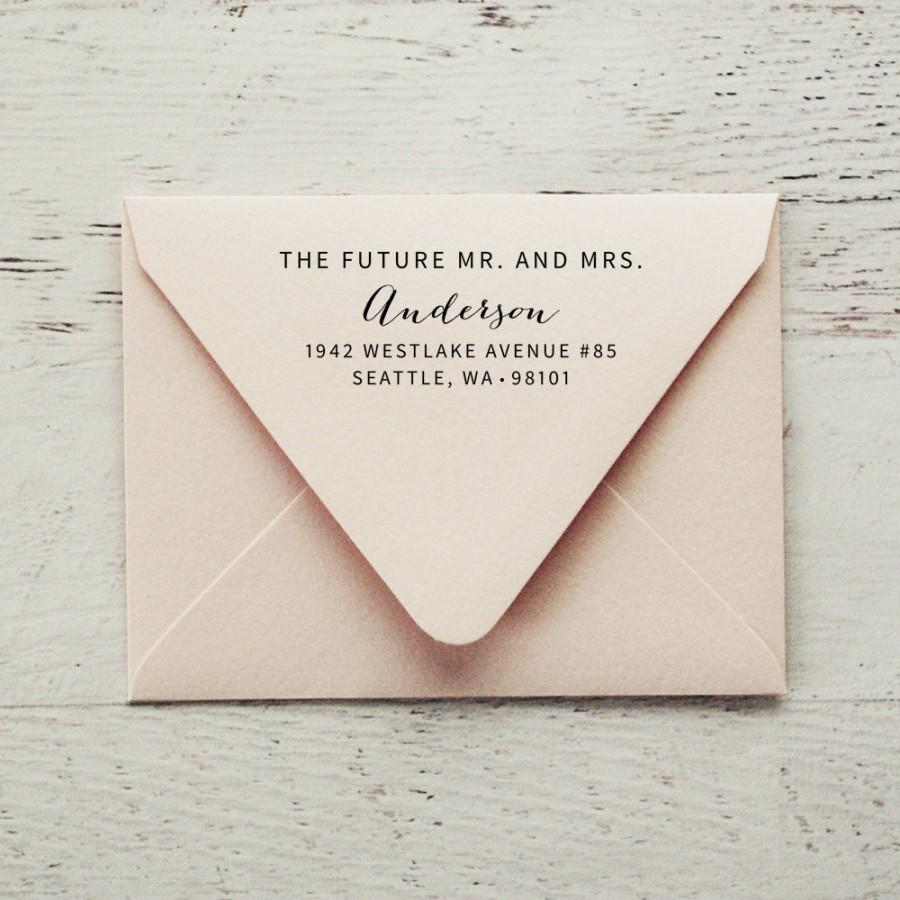 future mr and mrs self inking address stamp wedding stamp save the