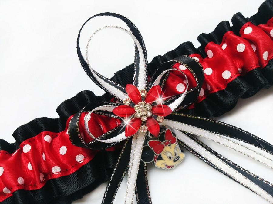 Mariage - Sexy MINNIE MOUSE Charm Womens GARTER Belt For Wedding Bridal Prom Lingerie