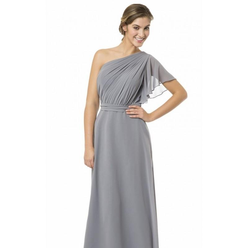Hochzeit - Shadow Asymmetrical One Shoulder Gown by Bari Jay - Color Your Classy Wardrobe