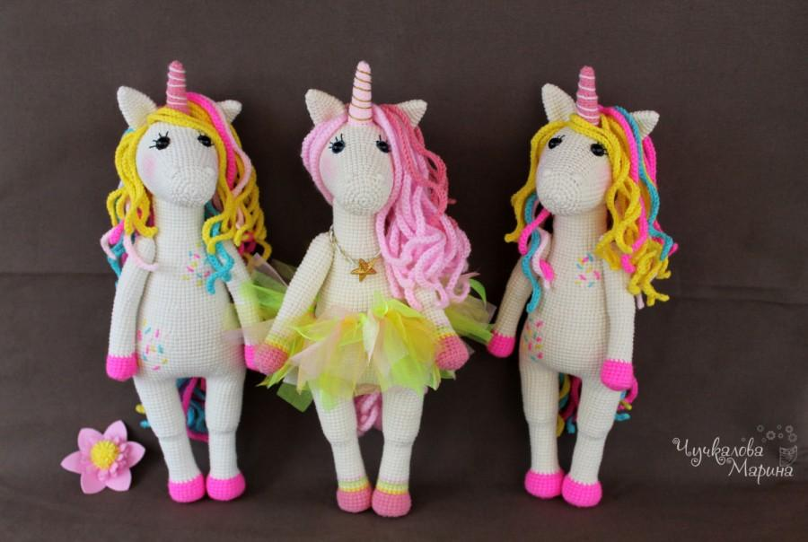 Wedding - A sweet unicorn PDF crochet toy pattern