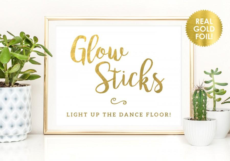 Magnificent Glow Sticks Sign In Gold Foil Wedding Glow Sticks Send Off Interior Design Ideas Tzicisoteloinfo