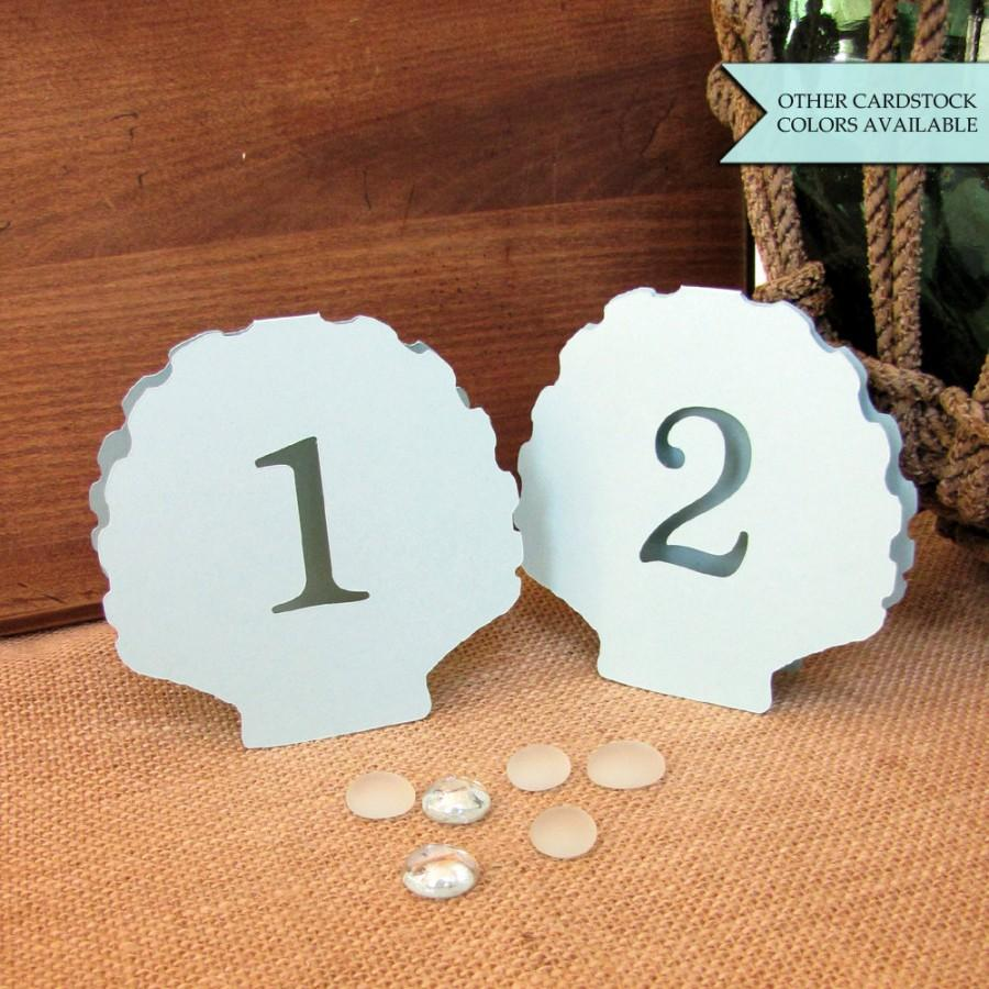 Hochzeit - Shell table number - Beach wedding table number - Table numbers wedding - Beach table numbers - Beach wedding decor