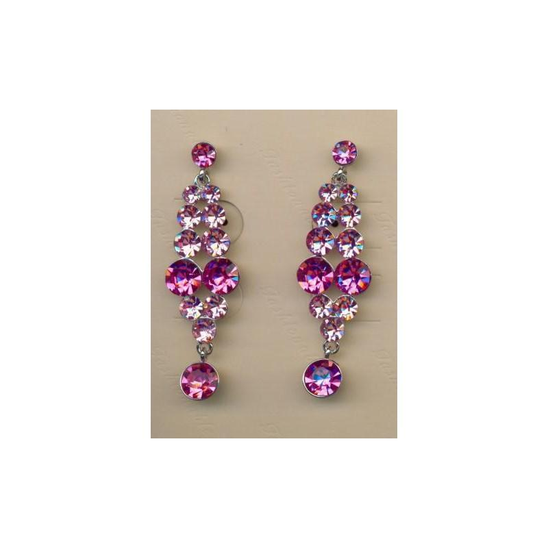 Wedding - Helens Heart Earrings JE-X001928-S-Pink Helen's Heart Earrings - Rich Your Wedding Day