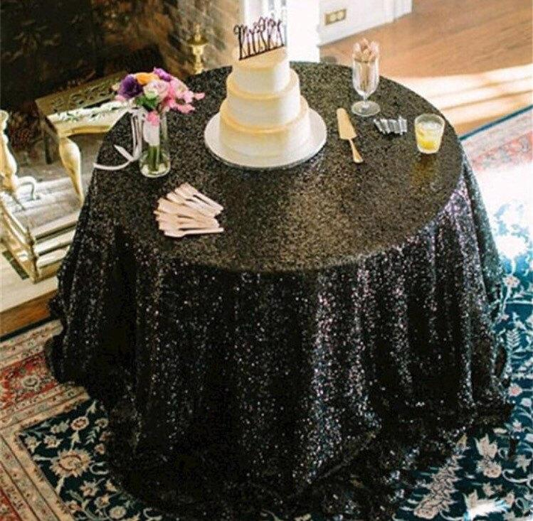 Свадьба - SALE!! Black sequin tablecloth, table runner, or table overlay. Wedding tablecloth, glitz, gatsby themed, glam