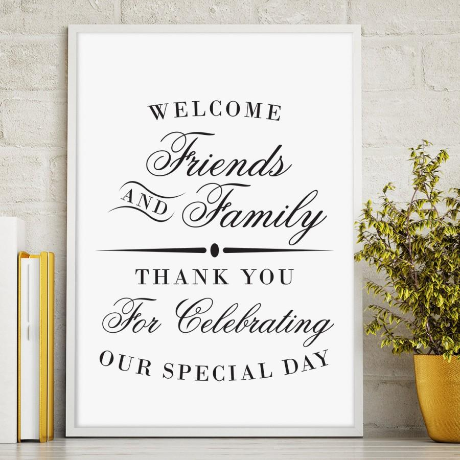 picture about Printable Welcome Sign called Printable Welcome Indication, Wedding day Reception Indication, Welcome In opposition to