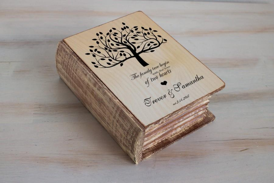 wedding ring box wedding tree box personalized ring box