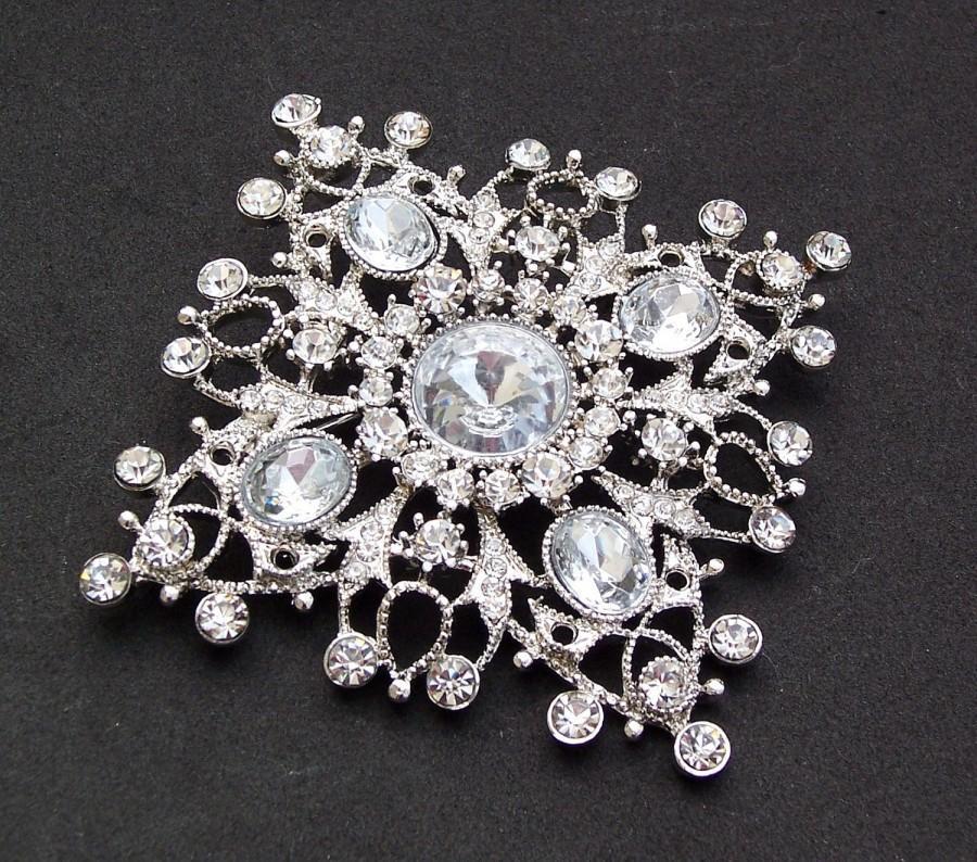 Hochzeit - Vintage Style Brooch with Rhinestones, MONICA
